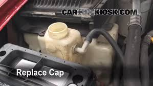 how to add coolant chevrolet s10 1994 2004 1996 chevrolet s10 6 replace cap secure the coolant reservoir cap