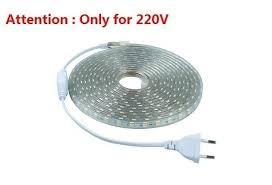 <b>SMD 5050 AC 220V</b> Led Strip Flexible Light 1M/2M/3M/4M/5M + EU ...