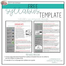 Free Syllabus Template Magdalene Project Org