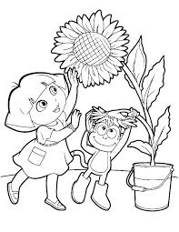 Dora Colour In The Explorer Coloring Pages Online Free Color And