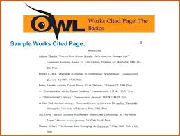 what is a works cited page mla works cited page template