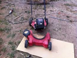 picture of cut the front off the mower