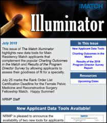 July Illuminator Nrmp Announces New Applicant Data Tools