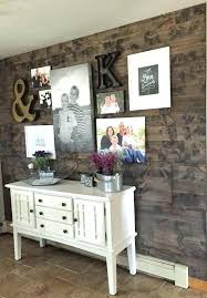 wood wall accent fake reclaimed
