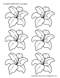 Bigger and smaller flowers with rounded petals, small dots for decoration. Draw Flower Patterns Flower Template Flower Templates Printable Flower Templates Printable Free