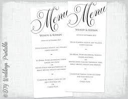 Wedding Menu Templates Free Download Word Meetwithlisa Info
