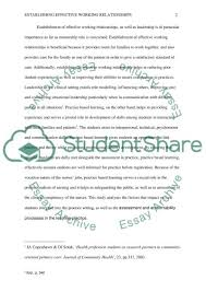establishing effective working relationships essay establishing effective working relationships essay example