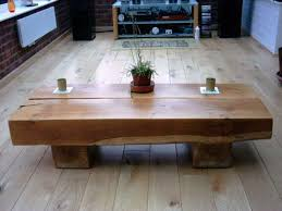 tables made from railway oak sleeper coffee table best coffee tables uk