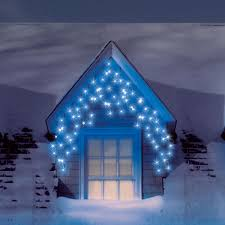 Blue And Warm White Icicle Lights Blue Outdoor Led Icicle Lights We Also Stock These In White