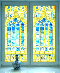 faux stained glass window home depot tinting tint with diy faux stained glass window clings