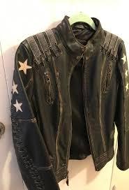 woman s bermans leather black rivet jacket