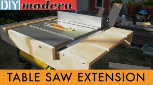 how to make a portable table saw extension for the dewalt 7480 diy modern
