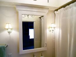 Bathroom Mirrors Cabinets Bathroom With Wall Sconces And Medicine Cabinet With Mirror
