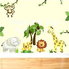 jungle wall stickers safari wall decals for nursery jungle wall stickers jungle safari nursery wall decals