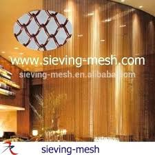 mesh curtains colorful hanging metal wire link black outdoor insect screen for doors windows