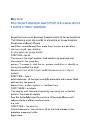legal environment of business answer outline of essay questions buy here student land legal environment of