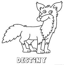 Destiny vos Naam Kleurplaat