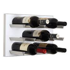 Image Is Loading Vinowall Wall Mounted Wine Rack 12 Bottle White