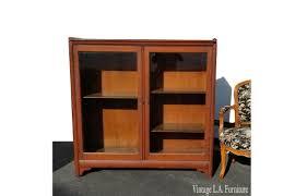 oak wood display cabinet bookcase
