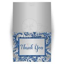 snowflake thank you cards bat mitzvah thank you card 2 winter wonderland royal blue silver