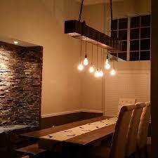 com reclaimed wood chandelier