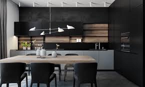 73 Parfait Cuisine Moderne Grise Et Noire Cuisine Idee Deco