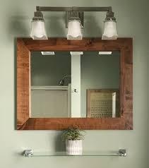 contemporary rustic vanity mirror