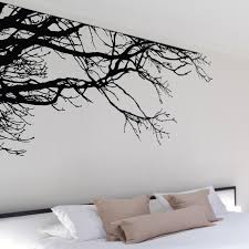 shadowy tree branches wall decal