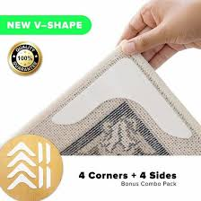 non slip runner rug grippers eco friendly washable and anti slip v shape rug pad for