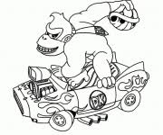 Donkey Kong Kleurplaten Donkey Kong Kleurplaat Donkey Kong