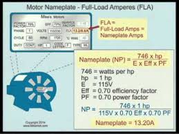 Ac Motor Full Load Amps Chart Motor Nameplate Full Load Amperes Fla Nec 2014 430 6 A 2 19min 23sec