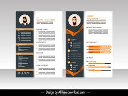 Vector Resume Templates Free Vector Download 18 632 Free