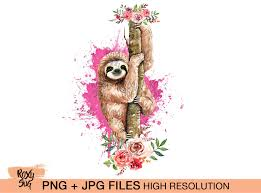 • 1 svg cut file for cricut, silhouette designer edition and more • 1 png high resolution 300dpi • 1 dxf for free version of silhouette cameo • 1 eps vector file for adobe illustrator, inkspace. Sloth On Tree With Flowers Sublimation Designs Downloads Watercolor Sloth Digital Files Clip Art Png Jpg In 2020 Watercolor Circles Flowering Trees Wreath Watercolor