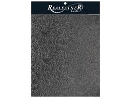 realeather by silver creek leather trim 8 5 in x 11 in acanthus black