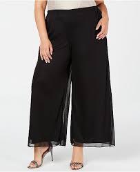 Plus Size Mesh Wide Leg Pants