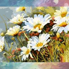 white flower painting white flower van go paint by number kit large white flower paintings