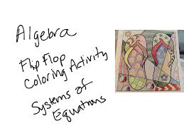 4 13 algebra coloring activity systems of equations math algebra systems of equations showme