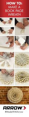 book page wreath tutorial how to make a book page wreath
