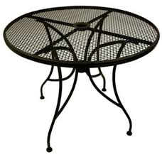 outdoor metal table. Plain Metal Round Wrought Iron Table Inside Outdoor Metal R