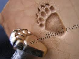 grizzly bear track leather stamp