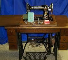 SINGER 66 REDEYE TREADLE SEWING MACHINE