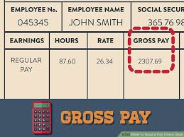 Payroll Calculator Michigan 3 Ways To Read A Pay Check Stub Wikihow