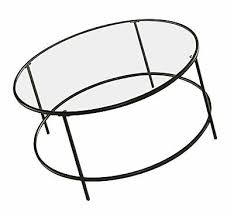 sauder soft modern round coffee table black clear glass
