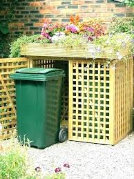 outdoor trash can. Outdoor Trash Can Storage Garbage Bin Outside .