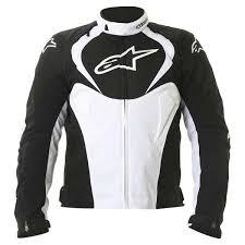 alpinestars t jaws wp jacket black white