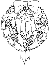 Decorate Your House With Christmas Wreaths Coloring Pages Coloring Sun