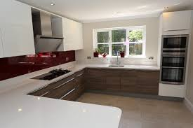 White Kitchen With Red Accents Grey And White Kitchen With Red Accents 16245020170516 Ponyiex