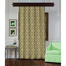 single panel curtain. #Cream #Unisex. Ring Figured Cream-Green Single Panel Curtain