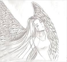 Angel Sketch Crying Angel Sketch By Drawing At Free For Personal Use