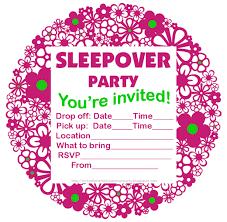 sleepover template sleepover invites template fresh free slumber party invitations